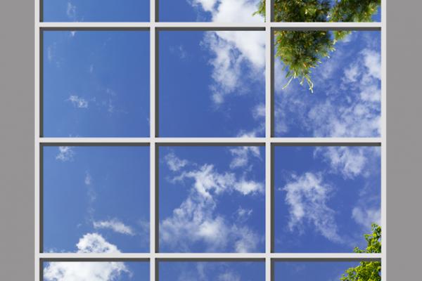 Cielos, ventanas y muros realistas